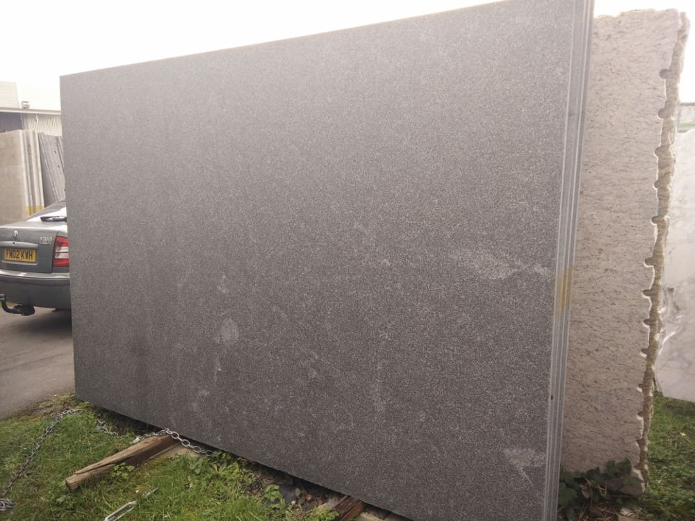 Nero Assoluto Flamed Granite Slabs