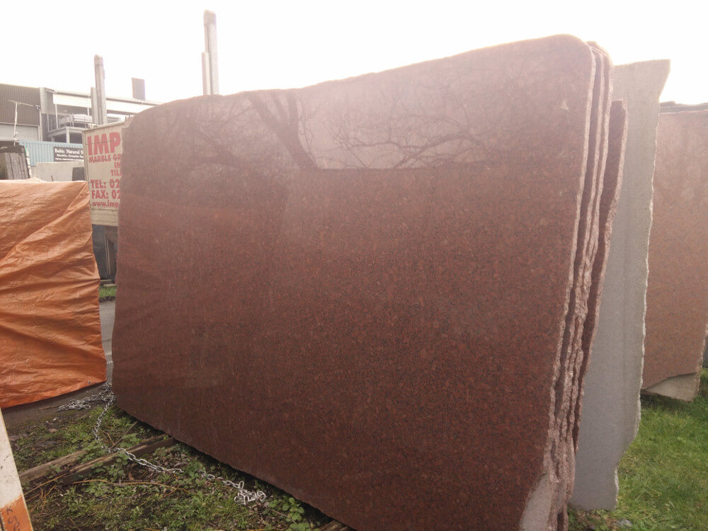 New Imperial Red Granite Slabs