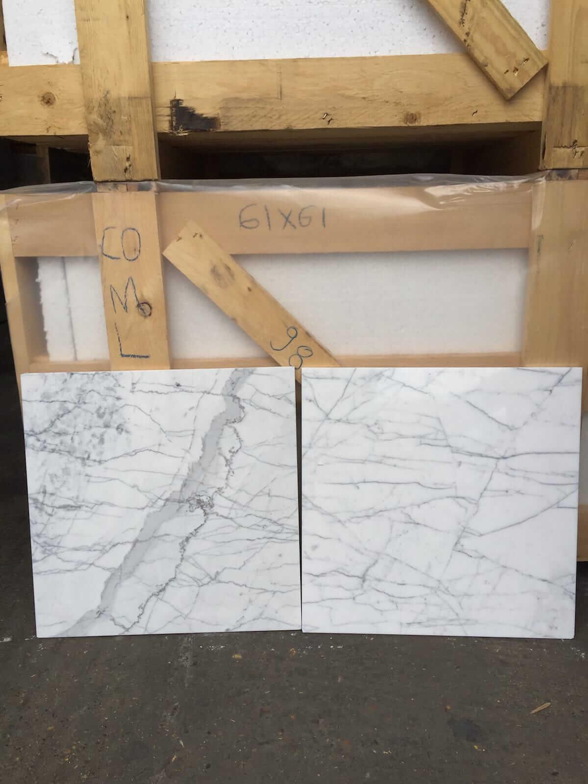 Carrara Gioia Marble Tiles 45.7x45.7
