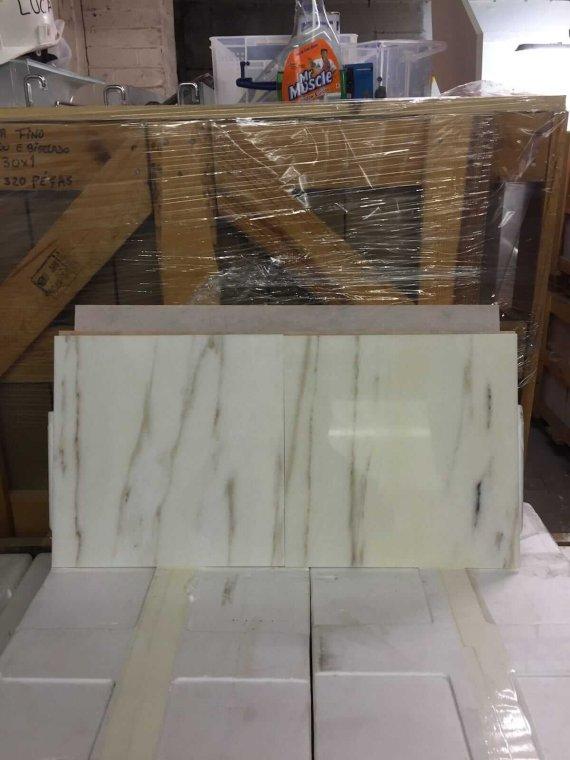 Rosa Portugala White Marble Tiles 30.5x30.5