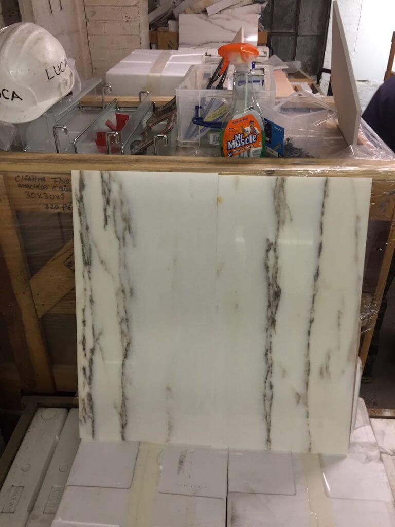 Rosa Portugala White Marble Tiles 61x30.5