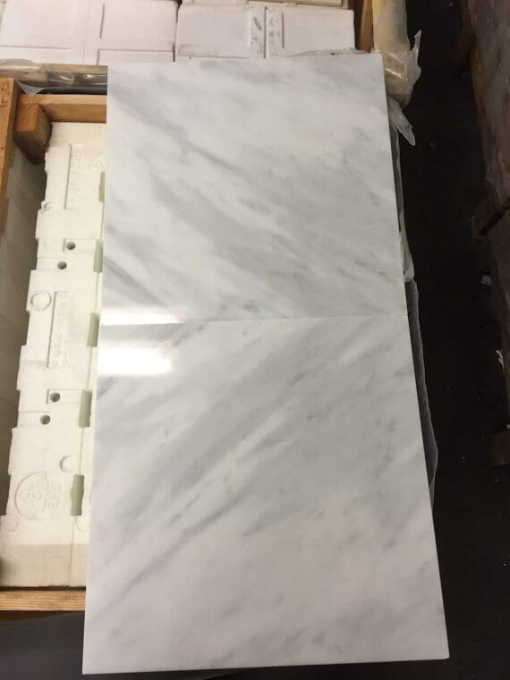 Statuario Marble Tiles 40x40