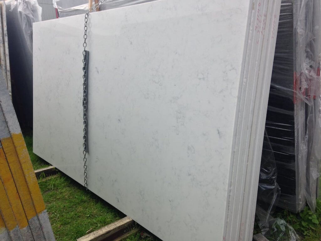 Carrara Quartz Slabs
