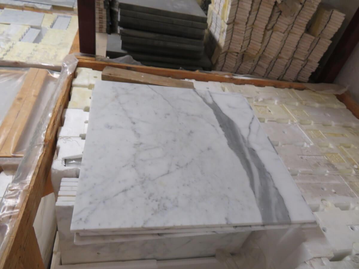 Carrara Marble Tiles 457 x 457