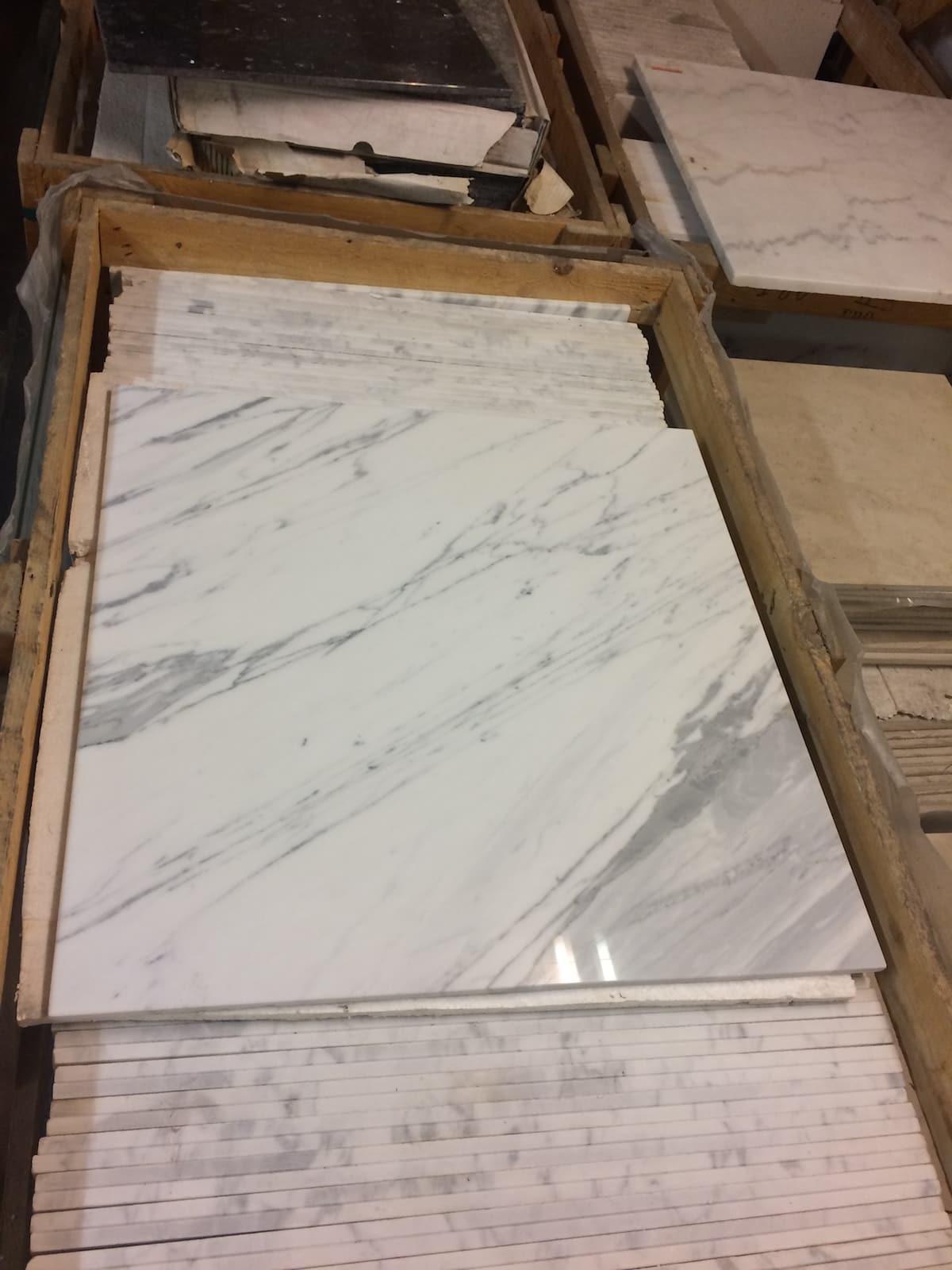 Statuario Marble Tiles 610x610