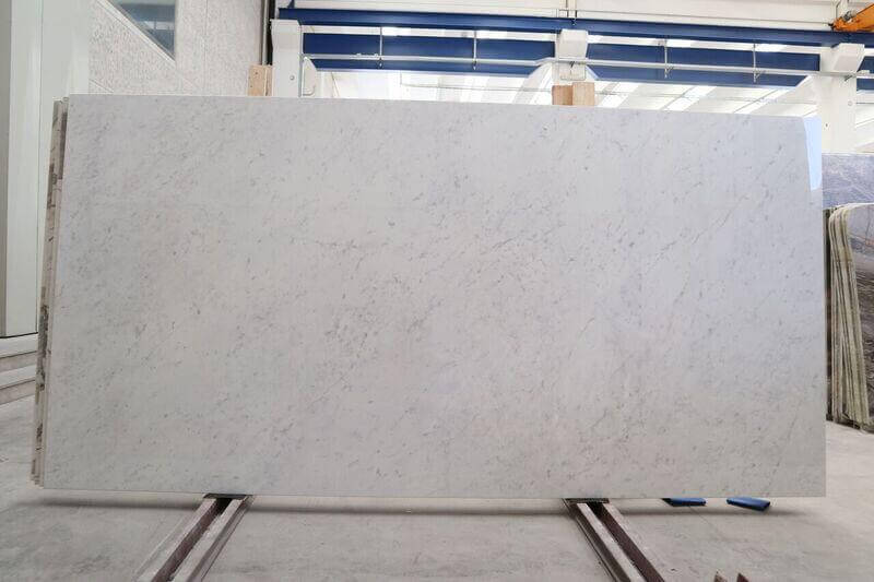 Porcelain Slabs Bianco Carrara as available from our London office and ideal for your bathroom or kitchen