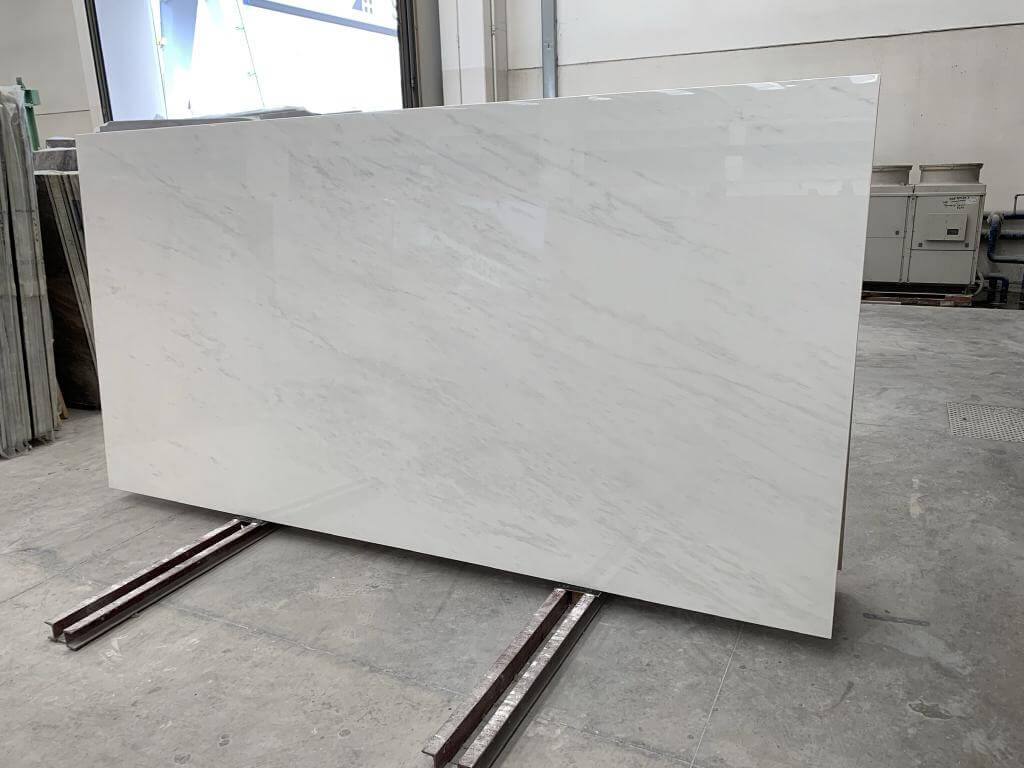 Bianco Rhino Porcelain slabs that we stock in our London yard