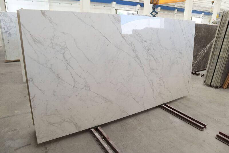 These Calacatta Vagli porcelain slabs are available from London's leading stone merchant