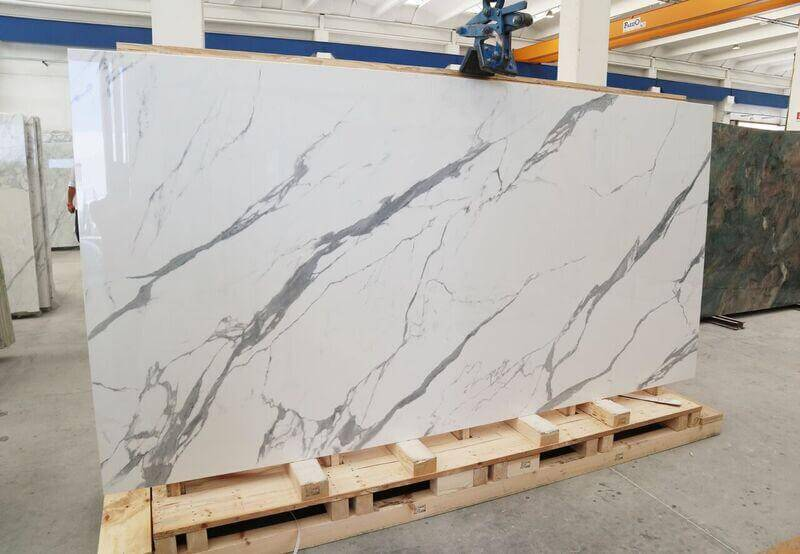 These Beautiful Statuario Porcelain Slabs are available to buy today