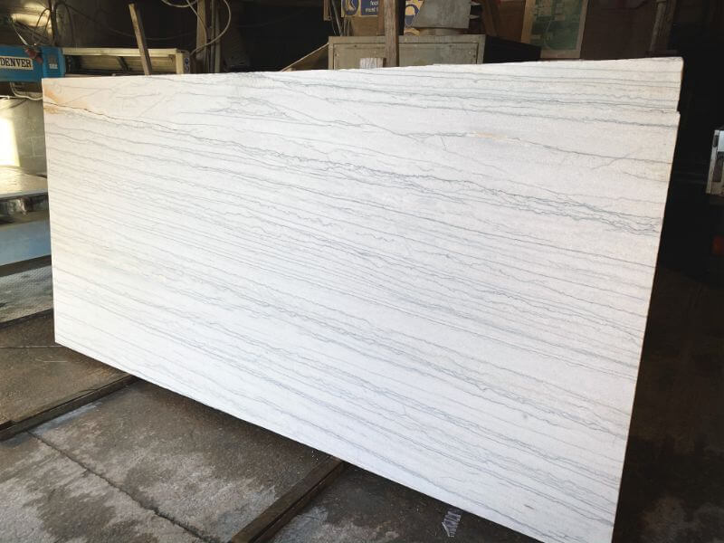 White Macaubas Brushed Quartzite stone