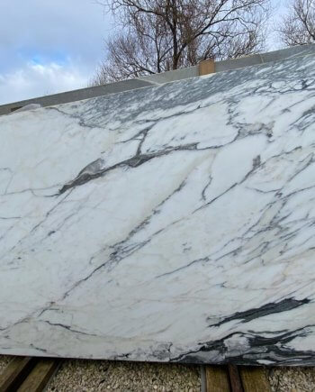 Statuario Corchia marble slabs as available at our premises in London